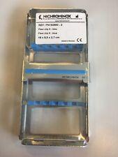 Nichrominox Flexi Clip cassette for 5 instruments 182800 Blue 18x9,5x2,7cm