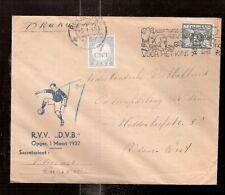 Netherlands  1941/2  ROTTERDAM FOOTBALL soccer CLUB postage due cover DVB
