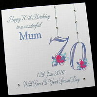 """Personalised Birthday Card 40th, 50th, 60th 65th ANY AGE & RELATION 6"""" or 8"""" sq"""