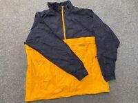 "Nike Sports Shell Jacket Black Yellow 1/4 Zip XL Extra Large 26"" Mens Track 2XL"