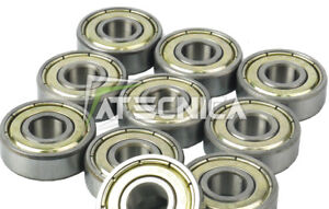 10 Stücke Bearings Lager Kugellager 10x26x8 MM 6000 2RS Modellieren Mechanik