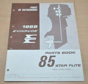 OMC Johnson Evinrude 85 Star Flite Motor Parts Book Ersatzteilliste 1969