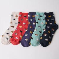 CAT Pattern Cartoon SOCKS 5 pairs=1pack women girl cute MADE IN KOREA socks