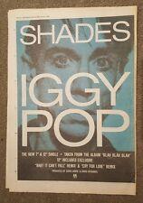 Iggy Tonos Pop 1987 edición anuncio Completo páginas 30 x 42 cm mini póster