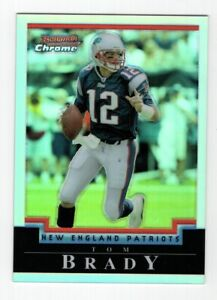2004 BOWMAN CHROME TOM BRADY #106 REFRACTOR PARALLEL #415/500 PATRIOTS CLEAN