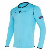 Macron Fußball 1/1-Arm-Shirt UEFA Referee 19 Schiedsrichter Trikot Herren hellbl