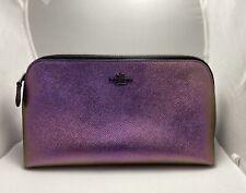 Coach Hologram Iridescent Oilslick Large Cosmetic Makeup Bag 64719
