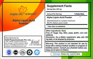 ALPHA LIPOIC ACID Powder 99% Purity Pure & High Quality Antioxidant