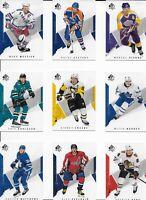 2018-19 SP Authentic Complete Base Set 1-100 (McDavid, Crosby, Gretzky, Messier)