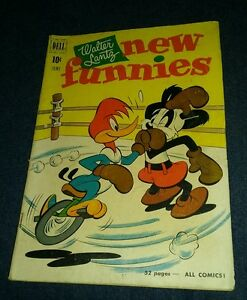 Walter Lantz New Funnies #172 1951 Dell g/vg andy panda woody woodpecker boxing
