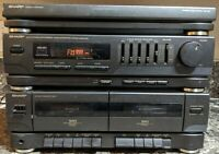 Sharp SG-R55 Stereo Music System Tuner Cassette Turntable Tested Pre-owned