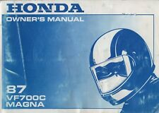 1987 HONDA MOTORCYCLE VF700C MAGNA OWNER'S MANUAL (800)