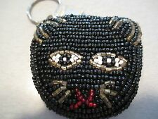 Beaded Black Cat Key Chain New With Tags
