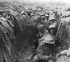 "Royal Irish Fusiliers in a Trench at Gallipoli 1915 World War 1, 4.5x4"" reprint"