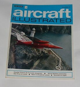 AIRCRAFT ILLUSTRATED NOVEMBER 1971 - HAWKER HISTORY & TORNADO BLUEPRINT