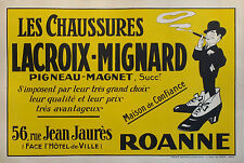 1910 ORIGINAL FRENCH SHOE STORE POSTER, CHAUSSURES LACROIX-MIGNIARD C. FAB!