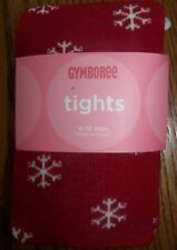 NWT GYMBOREE PENGUIN CHALET RED SNOWFLAKE TIGHTS 0-6 MO