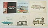 Vintage 1950s-60s Lot of 6 EDSEL car dealer advertising brochures Posters