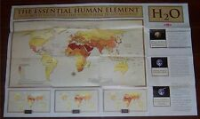 National Geographic World MAP JUNE 2007 Blue Planet Run - DOW - WATER H2O