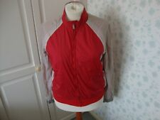 MENS FRENCH CONNECTION FCUK RED AND BEIGE JACKET MEDIUM ZIP FASTENING POLYAMIDE
