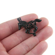 5x Black Horse Unicorn Pearl Cage Locket Pendant Essential Oil Diffuser Gifts