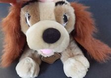 Lady and the Tramp Plush Stuffed Animal Dog Disney Store Cocker Spaniel Toy