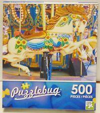 Jigsaw Puzzle Puzzlebug 500 piece carnival carousel horse Sealed