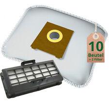10 Staubsaugerbeutel Filtertüten + Hepa Filter für Siemens VS07 Bosch BSG7