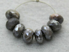 Natural Australian Grey Moonstone Faceted Rondelle Gemstone Beads 7mm.