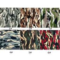Camouflage Printed Quilt Quilting Cotton Fabric Material Army Sewing DIY Crafts