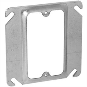 """Hubbell RACO 771 4"""" Square Outlet Box Cover 1-Device Mud Ring"""