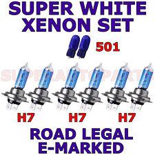 si adatta di AUDI A4 1999-2001 Set H7 H7 H7 501 Super Bianco Xenon lampadine