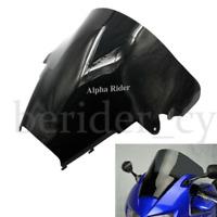 RACING SCREEN WINDSHIELD WINDSCREEN SCHEIBE For HONDA VFR 800 1998-01 BLACK ABS
