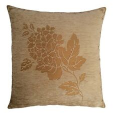 """Chenille Floral Pattern 18""""x18"""" Beige Decorative/Throw Pillow Case/Cushion Cover"""