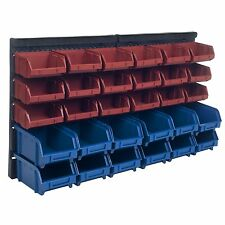 Plastic Rack Wall Mounted Box 30 Drawers Storage Organizer Rack Garage Tools Bin