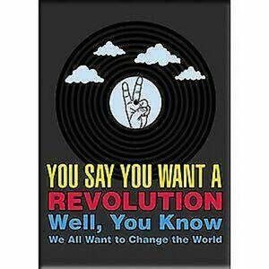 Lennon Und Mccartney Sie Wollen Ein Revolution - Kunstwerk, Kühlschrankmagnet,