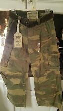 Abercrombie belted camo cargo low rise military pant size M 29x25 Msrp over $300