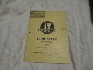 John Deere 70 tractor service shop manual
