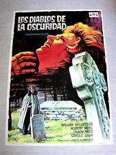 DEVILS OF DARKNESS Original VAMPIRE HORROR Movie Poster TRACY REED HUBERT NOEL