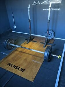 York Studio / Barbell Set. Commercial Gym Equipment. 80kg total weights CrossFit