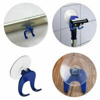 Plastic Suction Cup Razor Holder Single Rack Bathroom Shower Bath Clear Blue