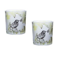 Set of 2 Bird in a Tree Tealight Holders
