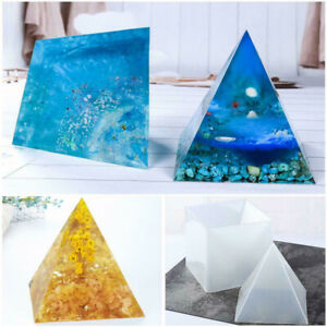 15cm Large Pyramid Shape DIY Silicone Mould Resin Epoxy Casting Jewelry Mold