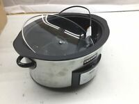 Crock-Pot SCCPVI600-S 6-Quart Countdown Programmable Oval Slow Cooker with Stove