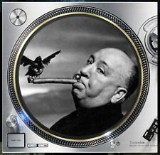 "Alfred Hitchcock Birds Cigar Slipmat Turntable 12"" Record Player, DJ Audiophile"