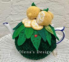 Crochet tea cozy green cover lemon tea cosy warmer crochet lemon flower kitchen