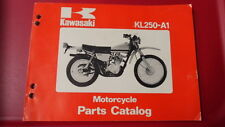 Kawasaki Factory Motorcycle Parts Catalog Manual 1978 KL250 99910-1001-01