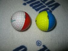 2 vintage Ping 2-tone golf balls