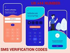 UK +44 Number, 24 Hour SMS Verification Code Service - PVA  - OTP - Anonymous