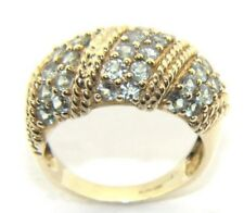 Ladies/women's 9carat/9ct yellow gold, green stoned dress ring UK size N